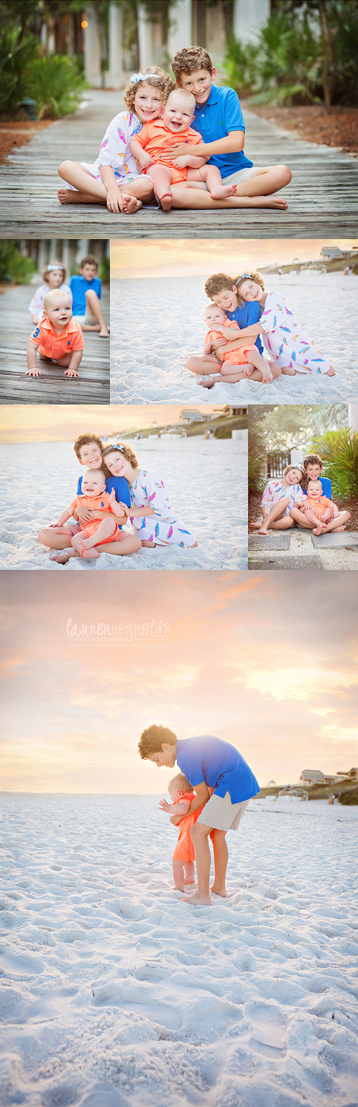 beach lifestyle family portraits